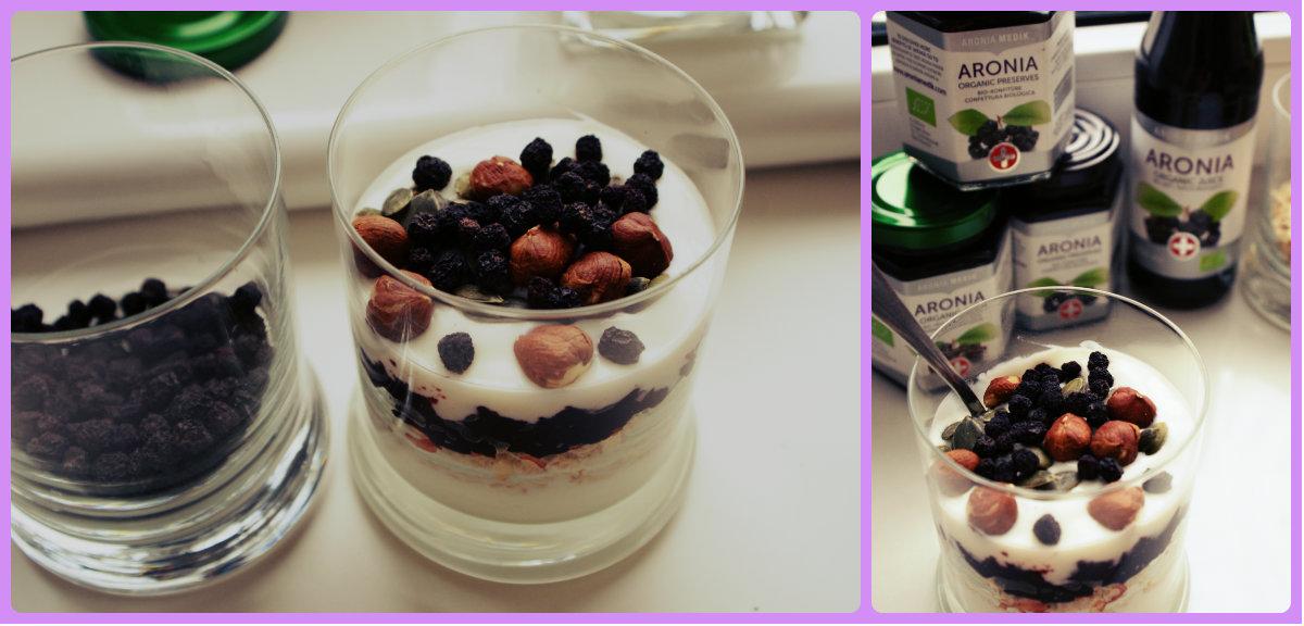 mix jogurtowo-owsiany z aronią